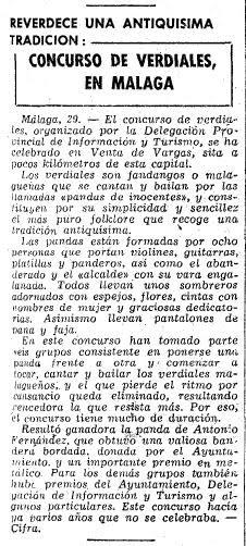 Prensa 1961_12_29 Vanguardia - Concurso y Fiesta Mayor