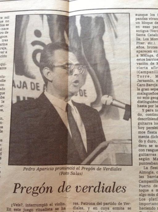 1986_06_30 I Encuentro de Verdiales - Pedro Aparicio