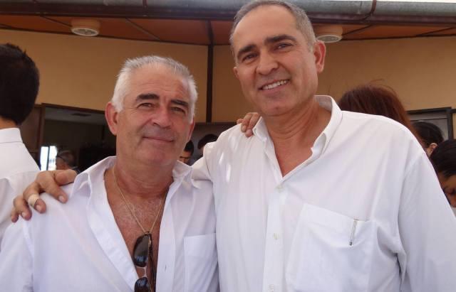 Adolfo España (a la izquierda) y Adolfo Cisneros